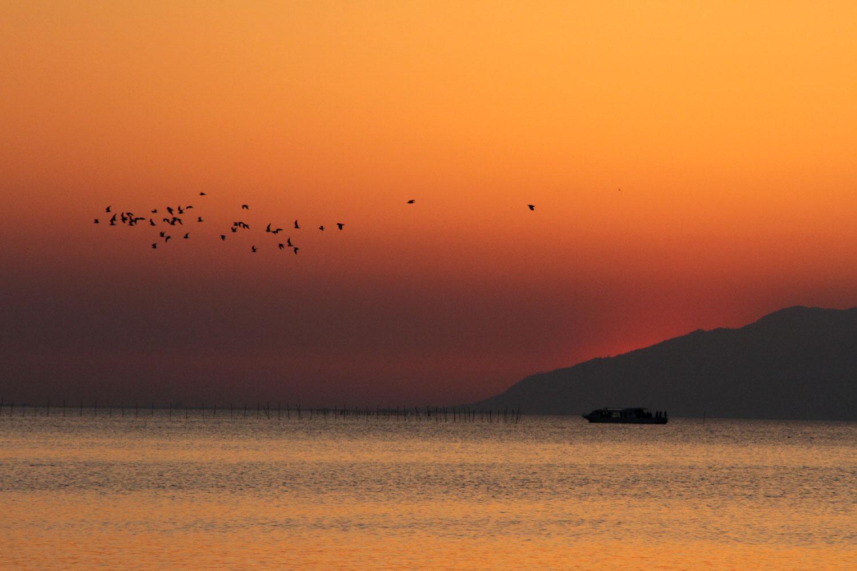 陽が沈んだ宍道湖