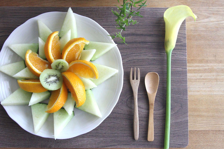 メロンとオレンジ