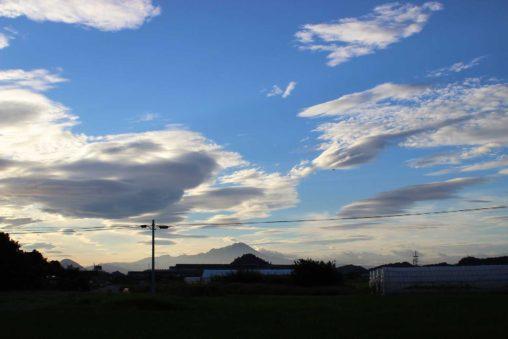 青空と大山