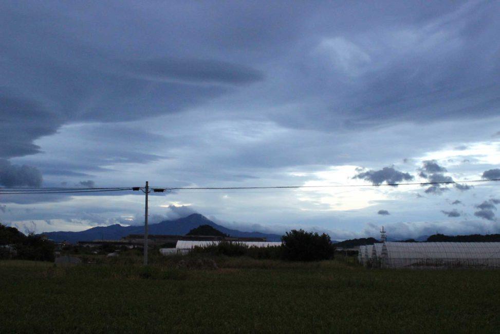 大山と青の景色