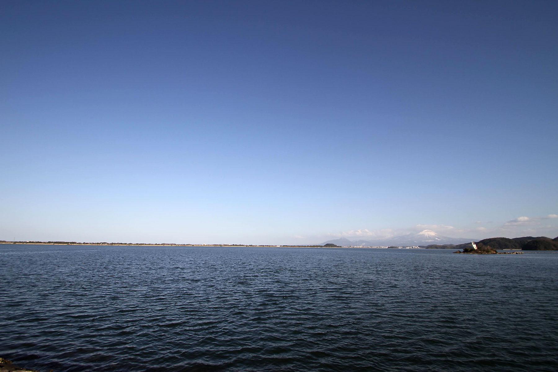 中海と大山、弓ヶ浜