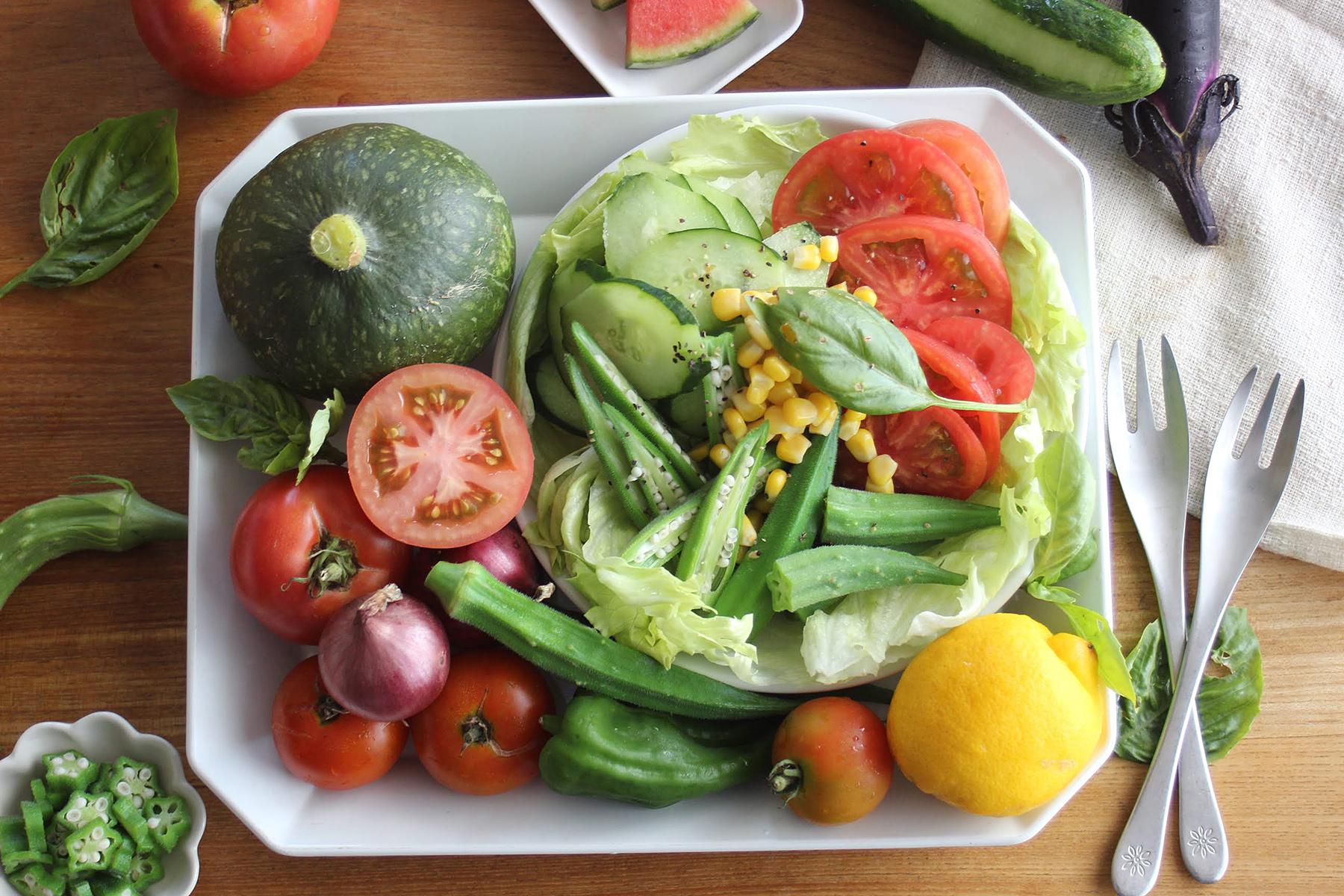 夏野菜のおっそわけ