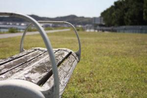 安来みさき親水公園のベンチ