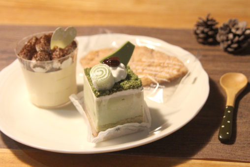 米子市フモールの抹茶ケーキ