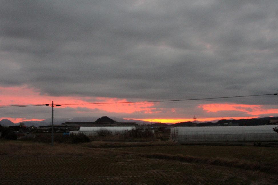 日の出前の様子